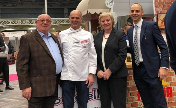 With the Carnevale Family an Institution for the Food industry in Uk @olympia @tastingsicilyuk @celebritychefs @iihmhotelschools @ficukdelegation  #carnevale #tastingsicilyuk